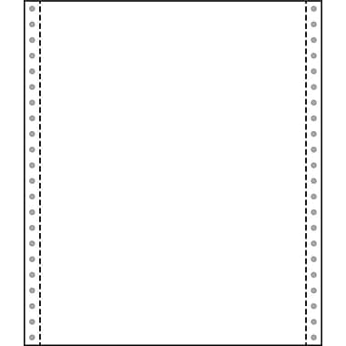 Printworks® Professional Blank Computer Paper W/Side Perforated, 9 1/2