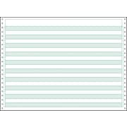 "Printworks® Professional Computer Paper W/1/2"" Green Bar, 14 7/8"" x 11"", White, 2200 Sheets"