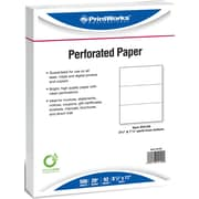 "Printworks® Professional 8 1/2"" x 11"" 20 lbs. Perforated 3 2/3"" and 7 1/3"" Paper, 2500/Case"