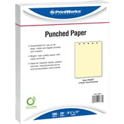"Printworks® Professional 8 1/2"" x 11"" 20 lbs. 5 Hole Punch Top Paper, Canary, 2500/Case"