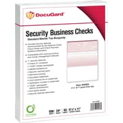 "Paris DocuGard® 8 1/2"" x 11"" 24 lbs. Standard Security Business Top Check Paper, Burgundy, 2500/Case"