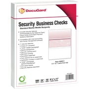 "Paris DocuGard® 8 1/2""x11"" 24 lbs. Standard Security Business Middle Check Paper,Burgundy,2500/Case"
