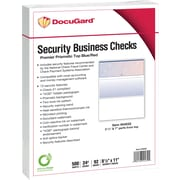 "Paris DocuGard® 8 1/2"" x 11"" 24 lbs. Standard Security Business Top Check Paper, Blue/Red, 2500/Case"