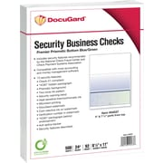 "Paris DocuGard® 8 1/2""x11"" 24lbs. Standard Security Business Bottom Check Paper,Blue/Green,2500/Case"