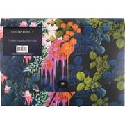 Cynthia Rowley, Expanding File Folder, Dark Blue Floral