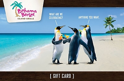 Bahama Breeze Gift Card $100 (Email Delivery)