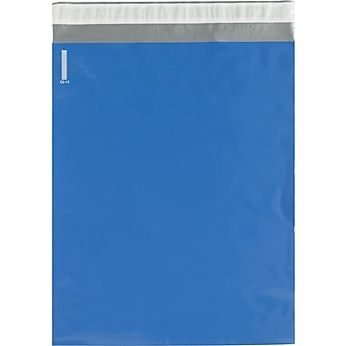 Partners Brand Colored Poly Mailers, Blue, 14-1/2 x 19