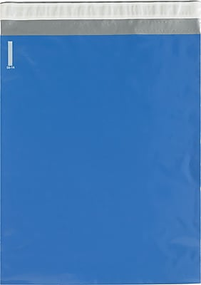 Colored Poly Mailers, Blue, 14-1/2 x 19
