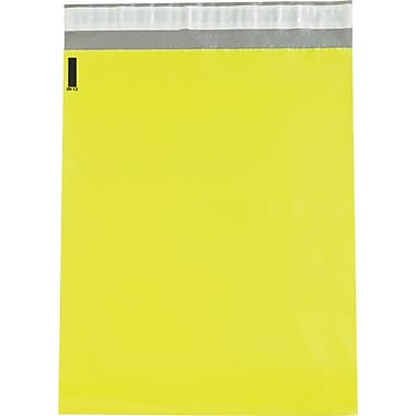 Partners Brand Colored Poly Mailers, Yellow, 12