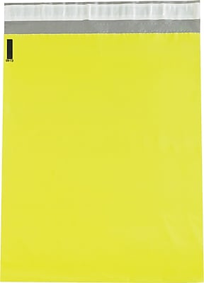 Colored Poly Mailers, Yellow, 12