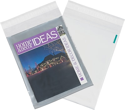 Clear View Poly Mailers, Clear/White, 12