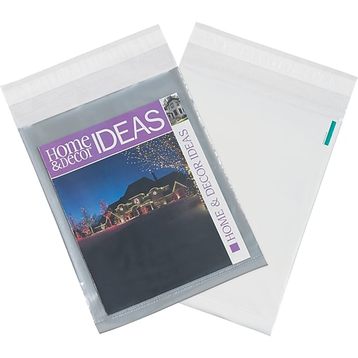 """Clear View Poly Mailers, Clear/White, 14"""" x 17"""", 100/Case"""