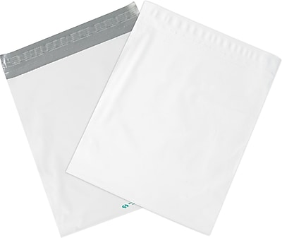Expansion Poly Mailers, White, 15
