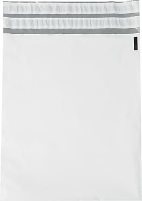 Returnable Poly Mailers, White, 12