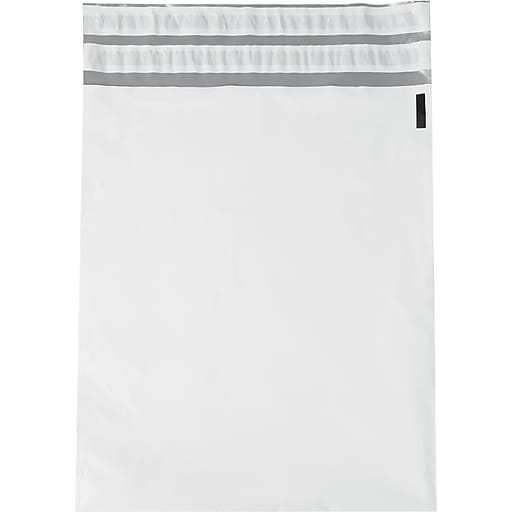 "Returnable Poly Mailers, White, 14"" x 17"", 100/Case"