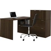 Bestar i3 L-Shape Desk Tuxedo