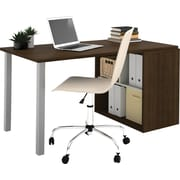 i3 by Bestar Workstation Tuxedo/Sandstone