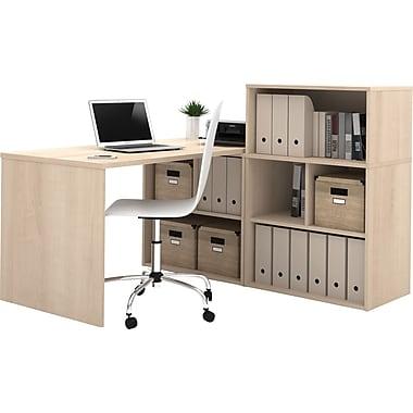 Bestar i3 L- Shaped Desk Northern Maple