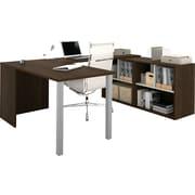 Bestar i3 U-Shaped Desk, Tuxedo & Sandstone
