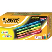BIC® Brite Liner® Highlighters, Chisel Tip, Assorted Colors, Value Pack, 24/Pack (BL241AST)