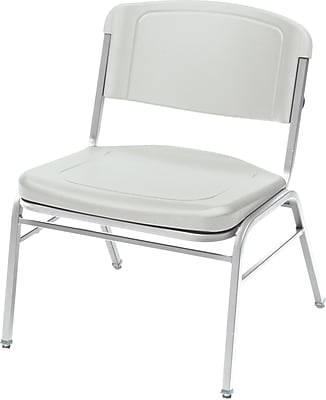 4 Pack Big and Tall Stack Chair, Platinum w/Silver Frame
