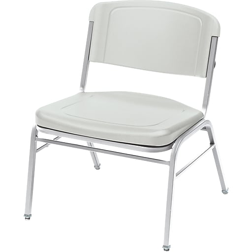 Tremendous Iceberg Rough N Ready Series Big Tall Stacking Chair Plastic Platinum Seat 24W X 20D Back 24W X 18H 4 Ct Creativecarmelina Interior Chair Design Creativecarmelinacom