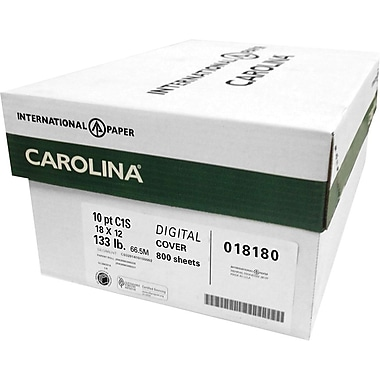 Carolina Cover 18 x 12 inch White 800/Carton