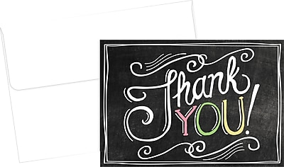 Great Papers Chalkboard Thank You Notecard, 24/Pack