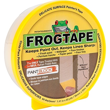 FrogTape® Delicate Surface Painter's Tape, Yellow