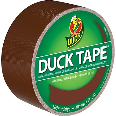 Duck Tape Brand - Ruban à conduits, 1,88 po x 10 vg, brun bouette