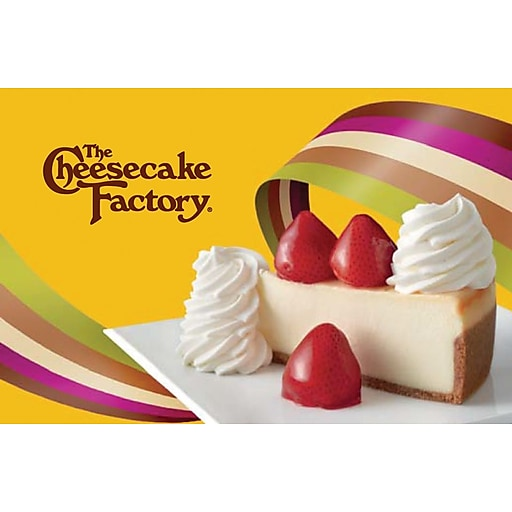 The Cheesecake Factory Gift Card $100