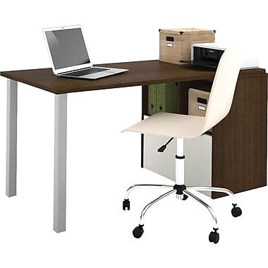 Bestar i3 Workstation Tuxedo & Sandstone