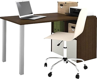 i3 by - Bestar Workstation in Tuxedo and Sandstone