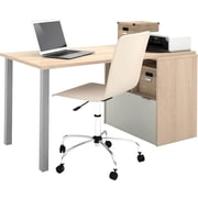 Bestar i3 Workstation in Northern Maple & Sandstone