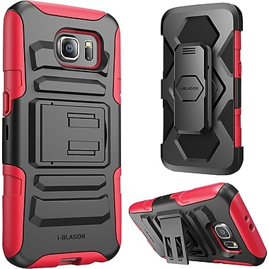 i-Blason Samsung Galaxy S6 Case, Prime Dual Layer Holster Case , Red