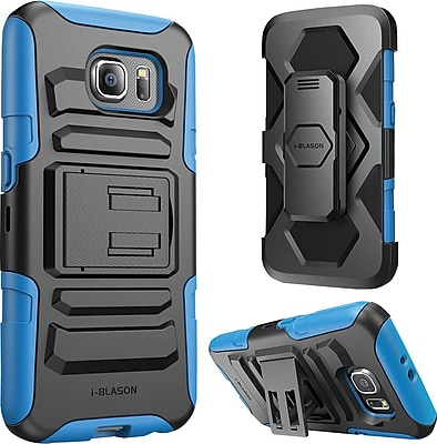 i-Blason Samsung Galaxy S6 Case , Prime Dual Layer Holster Case, Blue