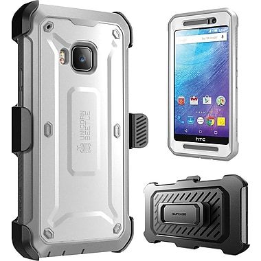 SUPCASE HTC One M9 Case, Unicorn Beetle Pro Rugged Holster Case, White/Gray