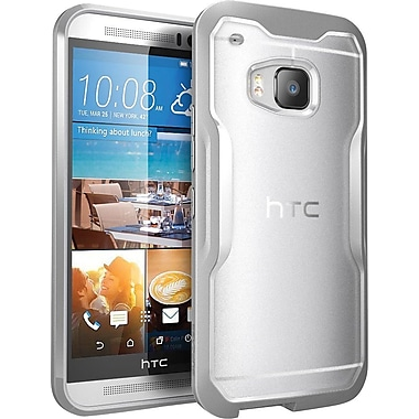 SUPCASE HTC One M9 Case, Unicorn Beetle Hybrid Bumper Case, Clear/Gray