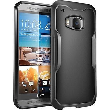 SUPCASE HTC One M9 Case, Unicorn Beetle Hybrid Bumper Case, Black/Black