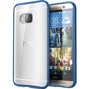 i-Blason HTC One M9 Case, Halo Scratch Resistant Hybrid Clear Case, Clear/Navy