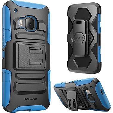 i-Blason HTC One M9 Case, Prime Dual Layer Holster Case, Blue