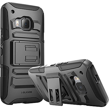 i-Blason HTC One M9 Case, Prime Dual Layer Holster Case, Black