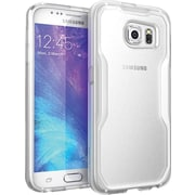 SUPCASE Samsung Galaxy S6 Case, Unicorn Beetle Hybrid Bumper Case, Clear/Gray