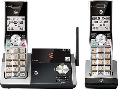 AT&T® CL82213 DECT 6.0 Cordless Answering System, With 2 Handsets