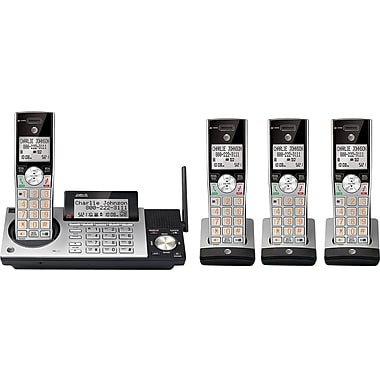AT&T DECT 6.0 CL83415 4 Handsets Cordless Expandable Phone w/ Answering System & Caller ID, Gry/Slvr