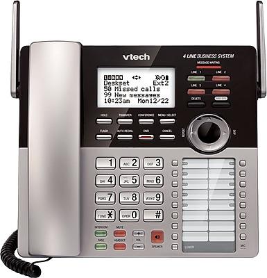 VTech CM18245 4-Line Small Business System Extension Deskset for VTech CM18445 4-Line Main Console