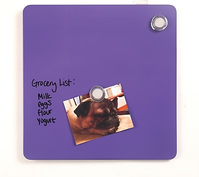 Staples® Tin Square Magnetic Whiteboards, Assorted Colors