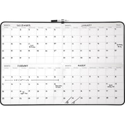 "Staples® 4-Month Dry-Erase Planner Board, Black Frame, 23"" x 35"""