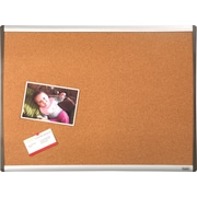 "Staples® Cork Bulletin Board, Black/Silver Frame, 17"" x 23"" (79373)"
