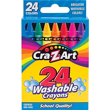Cra-Z-Art Washable Crayons, 24/Pack